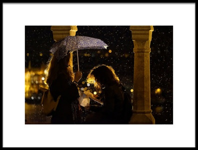 Art print titled Night Letter In the Rain by the artist Ferenc Boloni