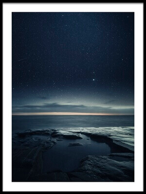 Buy this art print titled Night Sea by the artist Mika Suutari