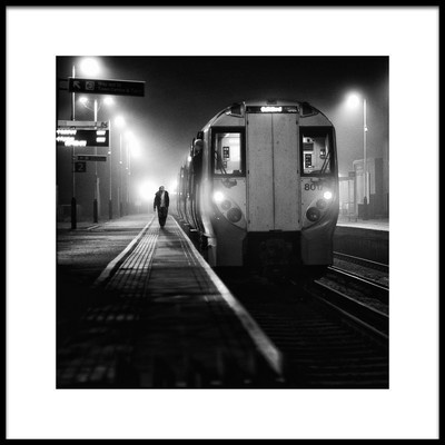 Art print titled Night Train by the artist Peter Davidson