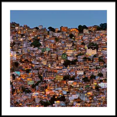 Buy this art print titled Nightfall In the Favela Da Rocinha by the artist Adelino Alves