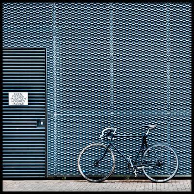 Art print titled No Bikes Please by the artist Linda Wride