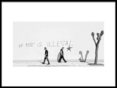 Buy this art print titled No One Is Illegal by the artist Martin Sander