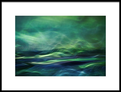 Art print titled Northern Lights by the artist Willy Marthinussen