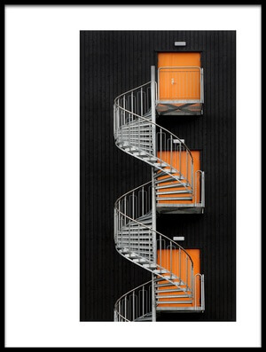 Buy this art print titled Northernmost Spiral Staircase by the artist Hans-Wolfgang Hawerkamp