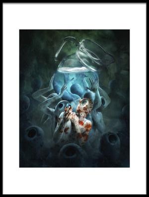 Art print titled Not Dark Yet by the artist Christophe Kiciak