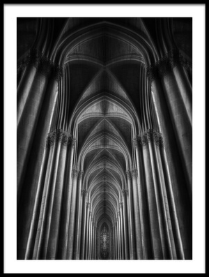 Buy this art print titled Notre-Dame Cathédral by the artist Oussama Mazouz