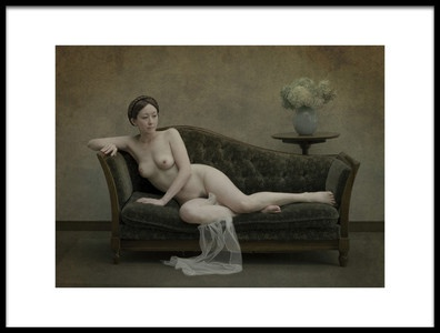 Art print titled Nude On the Sofa by the artist Fuyuki Hattori