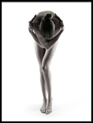 Art print titled Nude02 On White by the artist Kris Rogiers