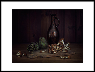 Buy this art print titled Of Artichoke and Pioppini by the artist Lenka