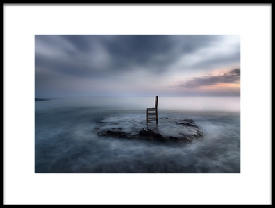 Art print titled Of Tide, Dusk and Expectations by the artist Maria Kaimaki