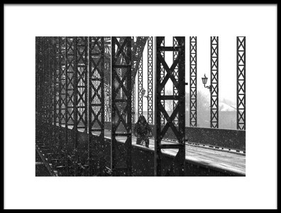 Art print titled Old Harburg Bridge by the artist Alexander Schönberg