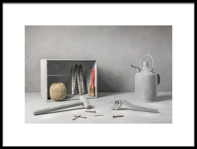 Art print titled Old Tools by the artist Christophe Verot