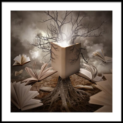Buy this art print titled Old Tree Reading Story Book by the artist Angela Waye