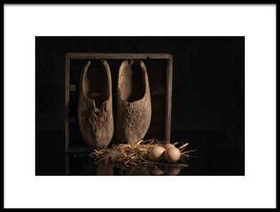 Art print titled Old Wooden Shoes by the artist Monique van Velzen