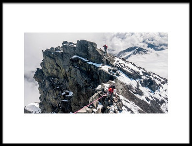 Art print titled On Joffre Peak by the artist Daniel Raber