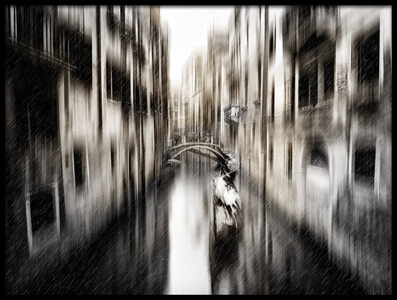 Art print titled On the Canal by the artist Carmine Chiriacò