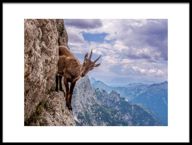 Art print titled On the Cliff by the artist Stefano Marsi
