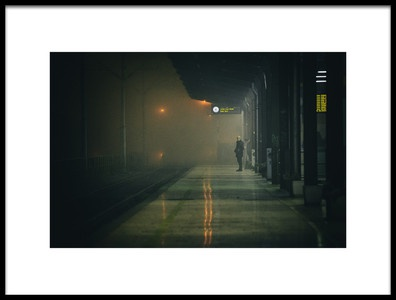 Art print titled On the Platform or at the Subway Station by the artist Matija Posavec