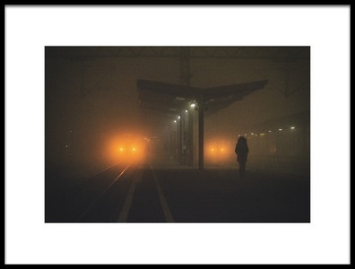 Buy this art print titled On the Platform or at the Subway Station by the artist Matija Posavec