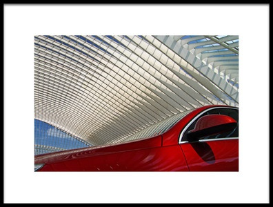 Art print titled On the Red Side by the artist Lus Joosten