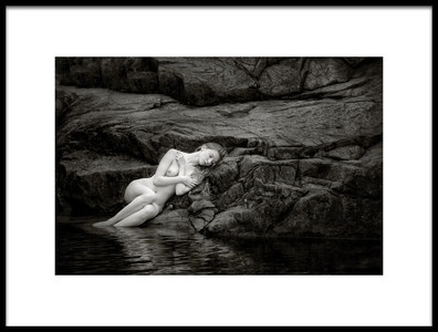 Art print titled On the Rocks by the artist Hugh Wilkinson