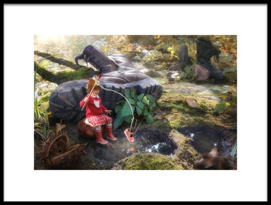 Art print titled Once Upon a Shoe by the artist Christophe Kiciak