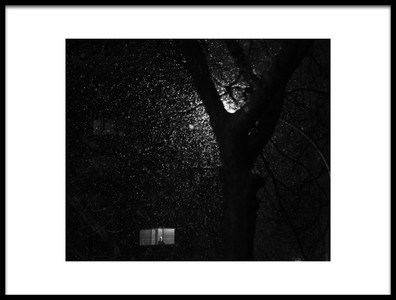 Art print titled One Snowy Night by the artist Pedram Khoshbakht