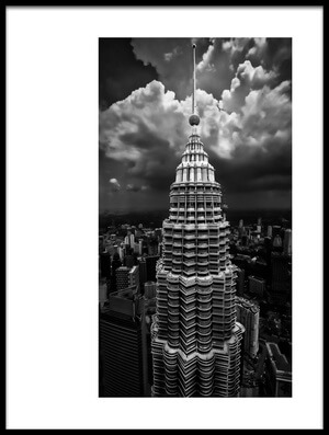 Art print titled One Tower by the artist Amr A. Rahman Mohamed