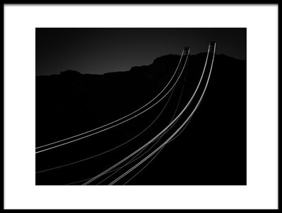 Art print titled Only Two Cable Cars by the artist Rolf Endermann