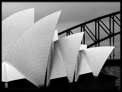 Art print titled Opera House Sydney by the artist Alida van Zaane