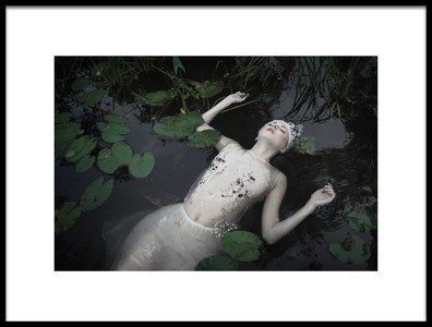 Art print titled Ophelia by the artist Dorota Gorecka