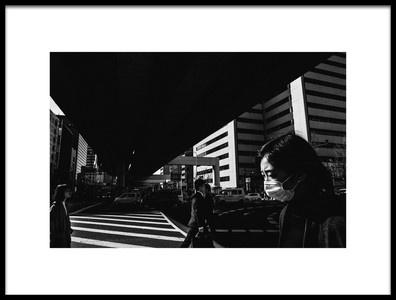 Art print titled Osaka Monochrome by the artist takaaki ishikura