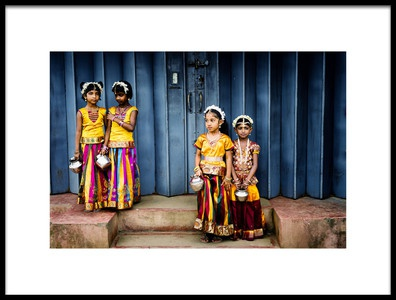 Art print titled Our Way to Sri Lanka by the artist Gina Buliga