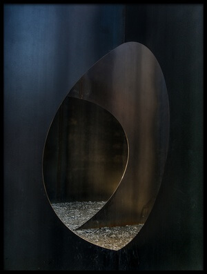 Buy this art print titled Oval Steel by the artist Luc Vangindertael (laGrange)