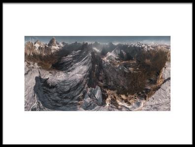Art print titled Overlooking Geisler Gruppe by the artist Stan Huang