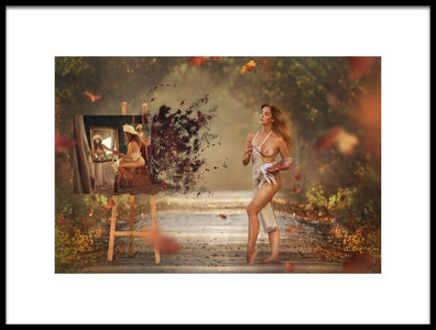 Art print titled Painter by the artist Evgeny Loza