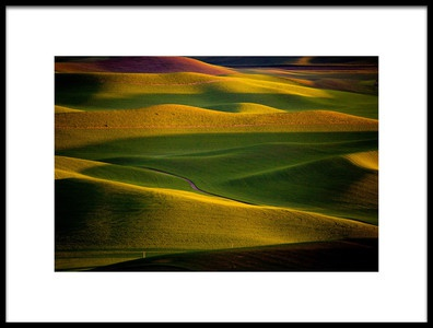 Art print titled Palouse Sunset by the artist April Xie