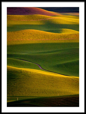 Buy this art print titled Palouse Sunset by the artist April Xie