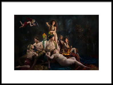 Buy this art print titled Pan, Bacchus, and Ceres by the artist Derek Galon MA FRPS FOPS
