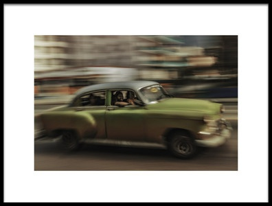 Art print titled Panning Havana by the artist Andreas Bauer