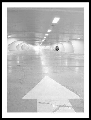 Buy this art print titled Parking, Liège-Guillemins Railway Station, Belgium by the artist Andrea Klein