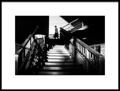 Art print titled Passing by the artist Tetsuya Hashimoto