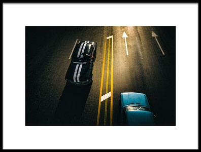 Art print titled Passing Cars by the artist Yancho Sabev