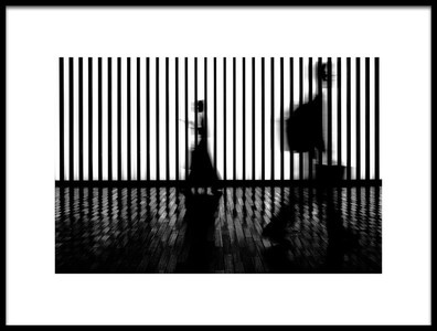 Art print titled Passing Each Other by the artist Tomoyasu Chida