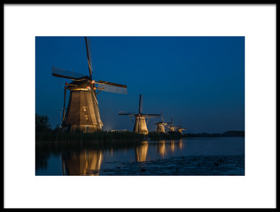 Art print titled Passing the Mills by the artist Roelof de Hoog