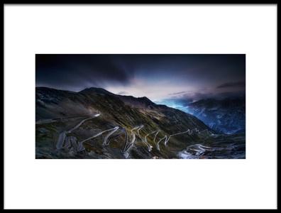 Art print titled Passo Di Stelvio by the artist Sven Kohnke