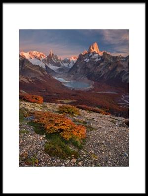 Art print titled Patagonia Is My Love by the artist Valeriy Shcherbina
