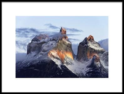 Art print titled Patagonia, That Magic Light by the artist Carlos Guevara Vivanco