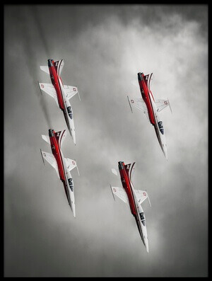 Art print titled Patrouille Suisse by the artist Leon