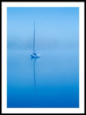 Art print titled Peaceful Blue Morning by the artist David H Yang